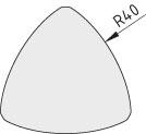 Zaślepka łącznika 8 R40-90°, kolor czarny