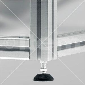 Nóżka nastawna D40, M8x80, kolor czarny