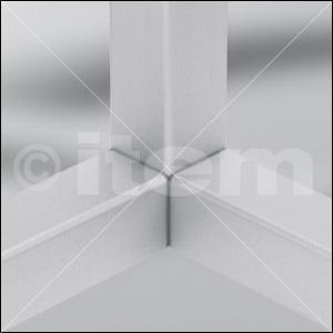 Uszczelka do wypełniania zaokrągleń 6 30x30 1R, kolor szary, zbliż. do RAL 7042