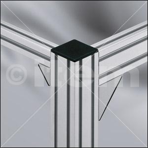 Kątownik 6 30x30 Zn, białe aluminium zbliżone do RAL 9006