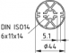 Profil wałka synchronicznego VK14, kolor naturalny